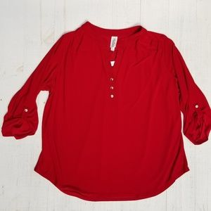 Ladies Per Seption sz 3x red blouse NWT